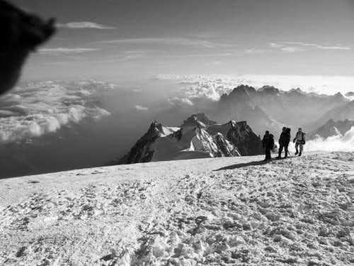 From the summit of the Mont Blanc