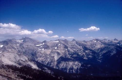 Great Western Divide as seen from Alta Peak