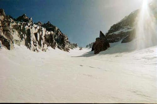 The North Couloir of Mt. Mary...