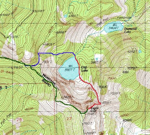 Eagle Cliff Peak Map