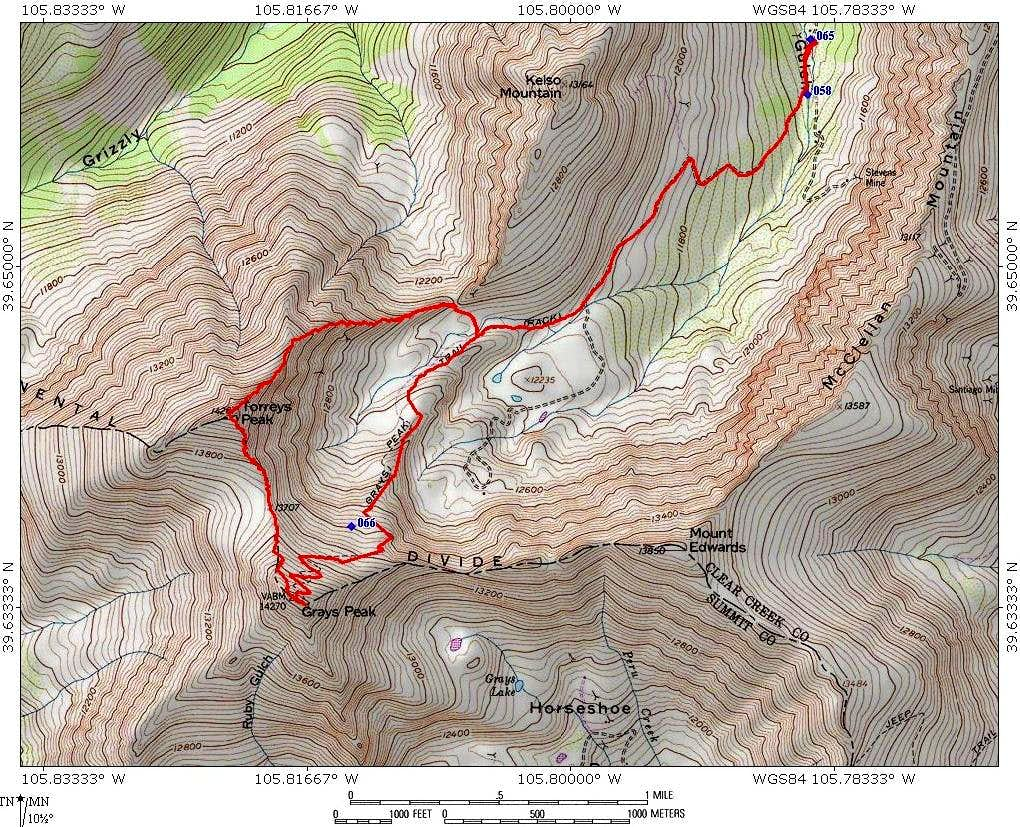Grays and Torreys via Kelso Ridge