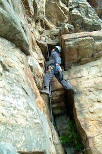 Gunks winter rock climbing
