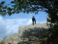 Climbing up the summit