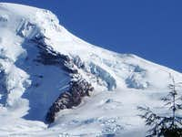 Coleman Headwall, and descent