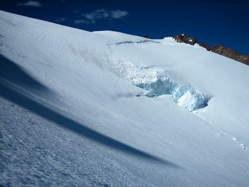 Upper icefall on Whitney Glacier