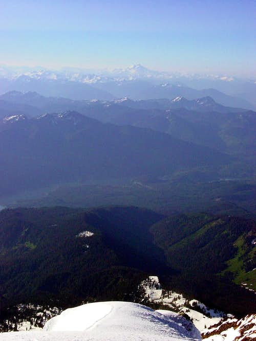 Glacier Peak from Mount Baker Summit