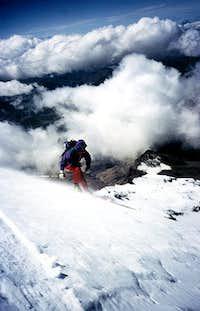 Skiing from Chimborazo