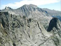 Wolf's Head ridge and Pingora...