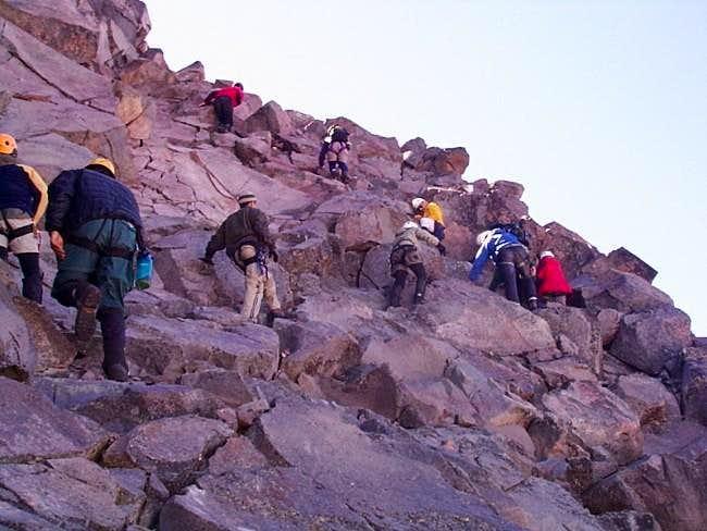 Scrambling up the Summit...