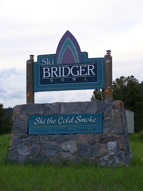 Bridger Bowl Entrance Sign