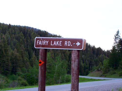 Fairy Lake sign