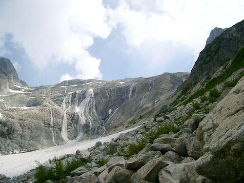 Waterfalls en route from Rifugio Bedole to Rifugio ai Caduti dell'Adamello