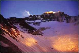 The west face of Lhotse at...