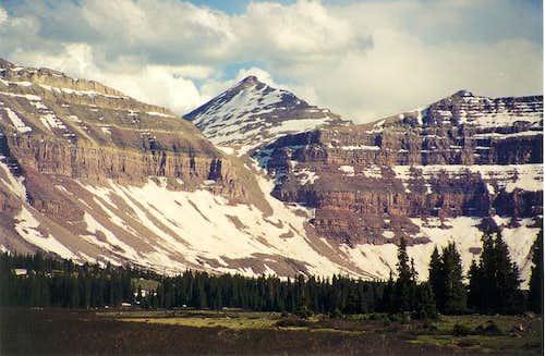 Looking at Kings Peak through...