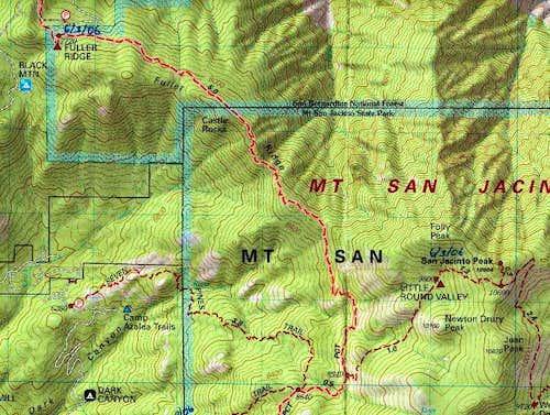 Fuller Ridge Trail Map