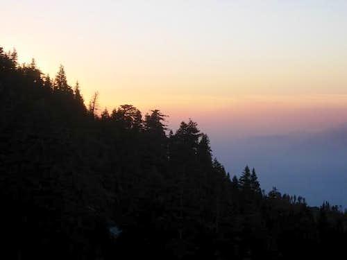 Sunset through smog and smoke
