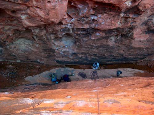 Dark Corridor, Red Rocks