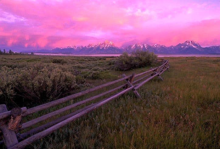Alpenglow on the Tetons