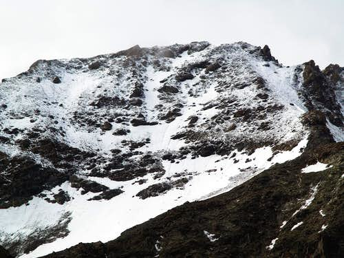 La parete nord della Punta di Leppe