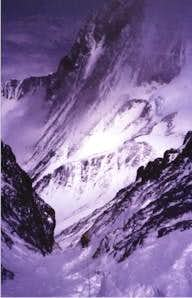 The Lhotse couloir seen from...