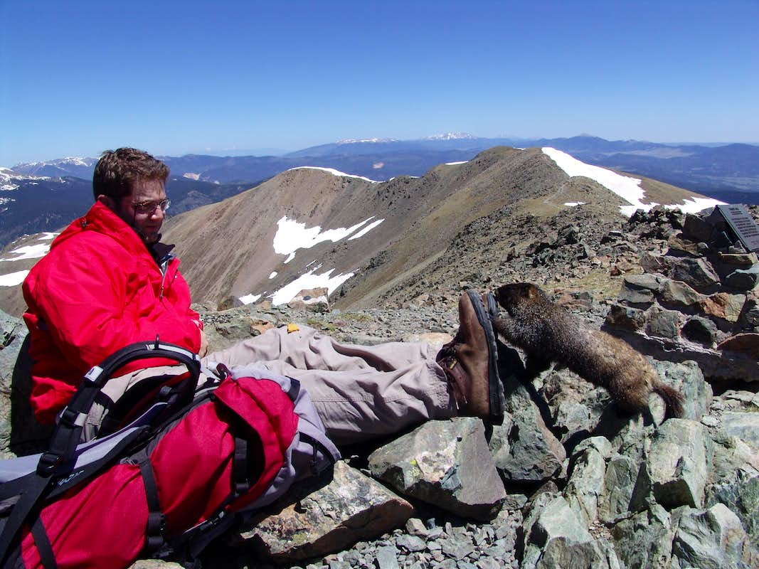 Dustiano on Wheeler Peak
