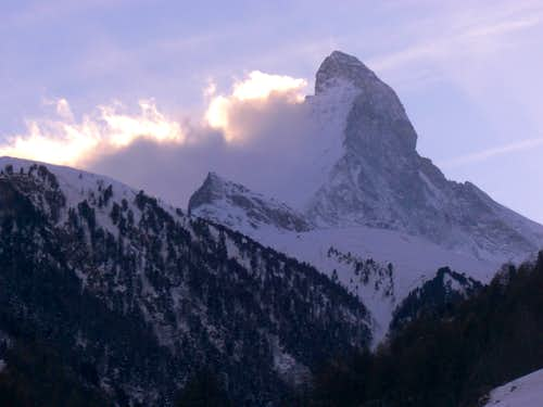 Matterhorn NE face in the evening.