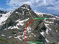 Cross Couloir route