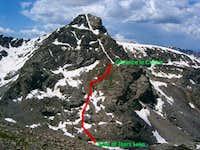 Cross Couloir route