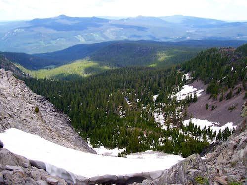 south Mt Yoran/ north side gully
