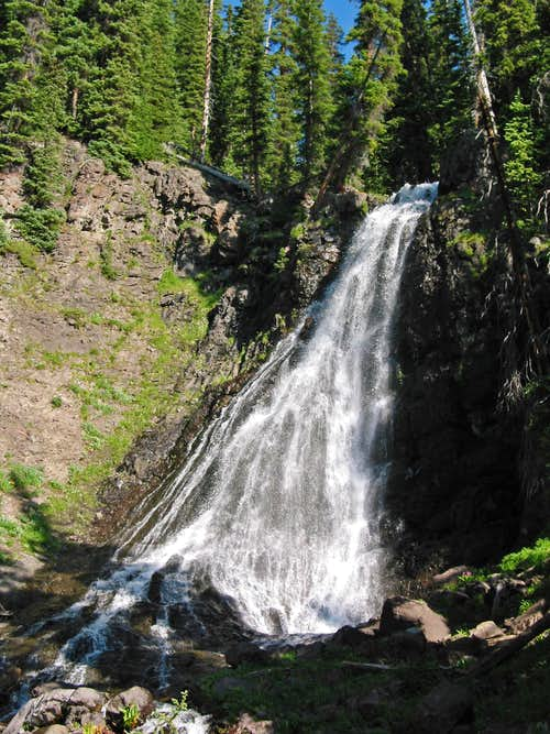 Waterfall along Treasure Creek