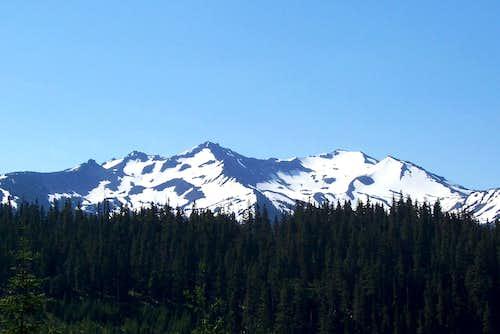 Diamond peak  from trailhead.