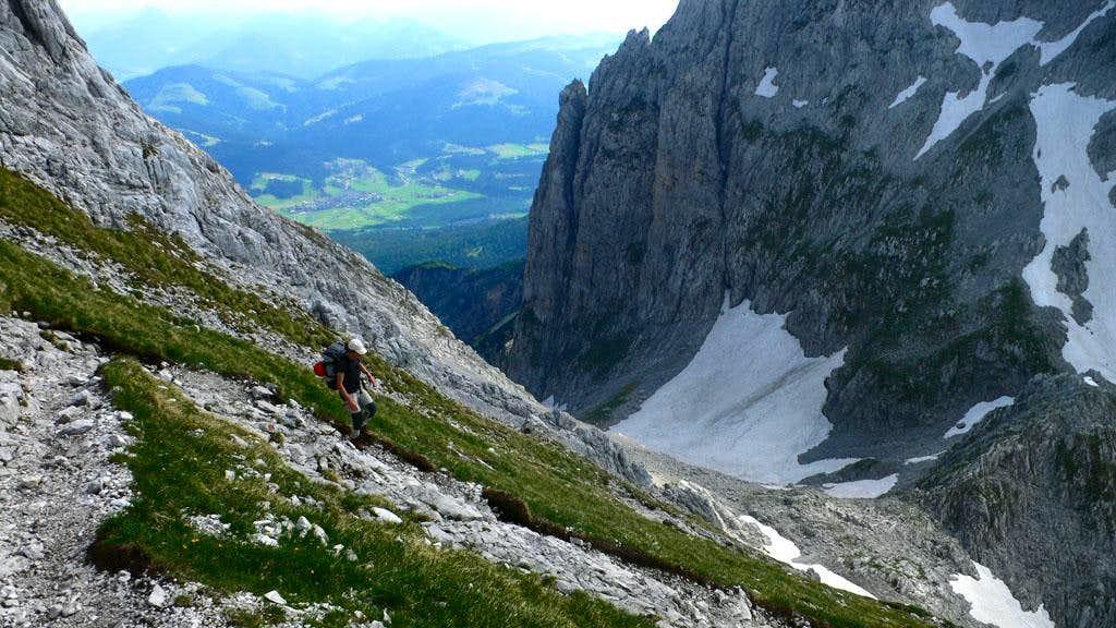 Descending from the Hintere Goinger Halt