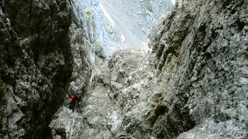 Abseiling to the Rinne