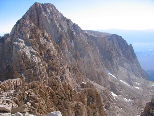 S. face of Peak 3985m