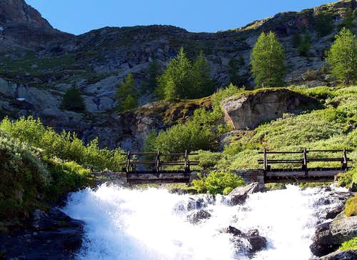 Il torrente Les Laures
