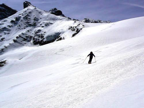Skiing down from Becca Giasson