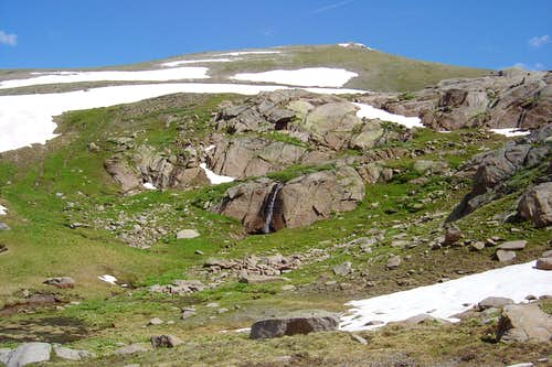 Waterfall on SW slopes of Twining Peak, Colorado