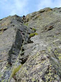 1st pitch on The Sharkstooth s Northeast Ridge