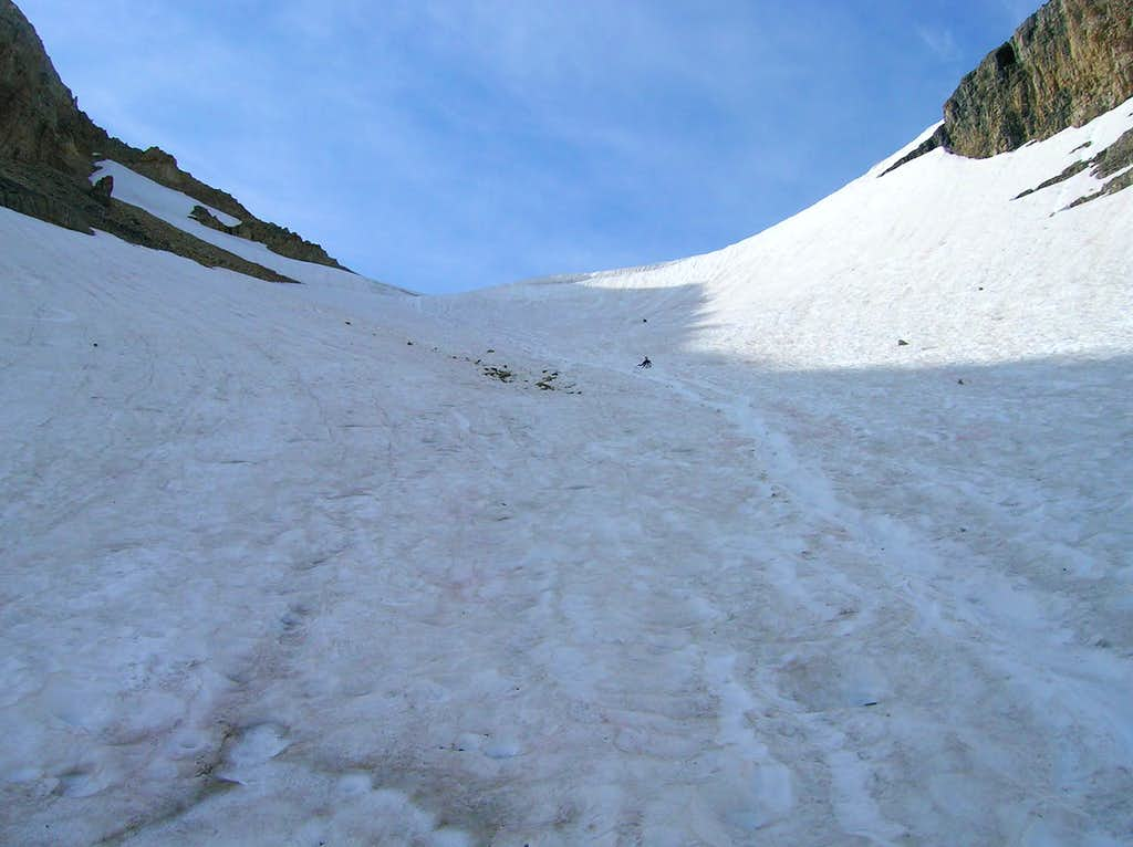 View up the glacier