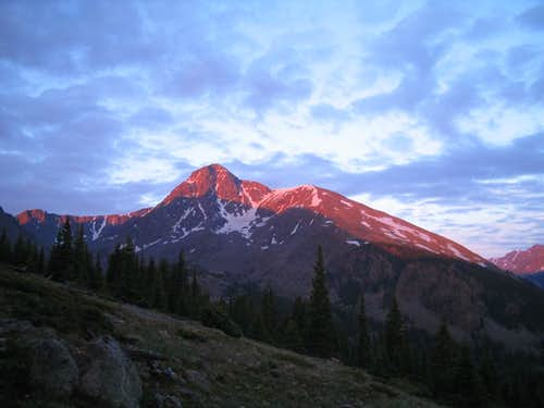 Alpenglow on Holy Cross