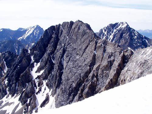 North Face of Sacajawea Peak  - SE of Borah