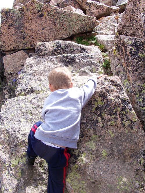 Boulder hopping