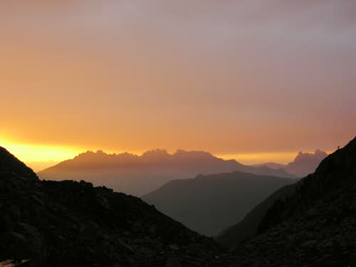 Sunset near the bivouac