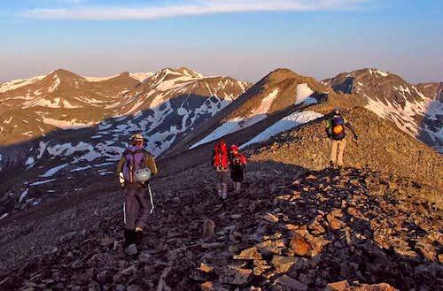 Start of the ridge run...