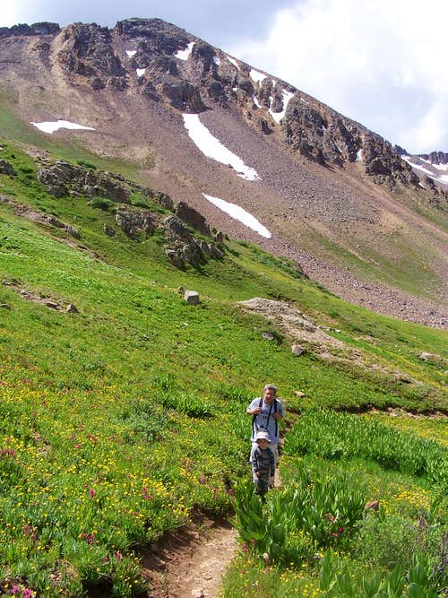 Trail to Coumbine Pass
