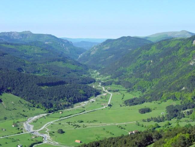 The green of valley of...