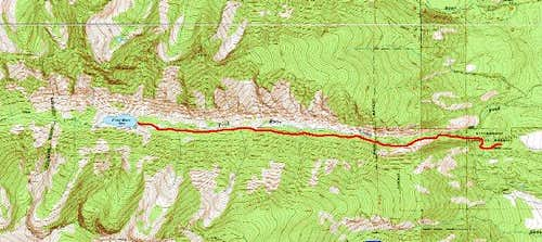 Fred Burr Trail Map