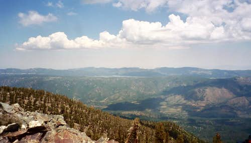 Big Bear Lake from Shields Peak