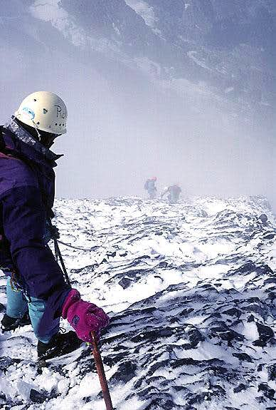 Icy Descent , Eiger,  West Flank