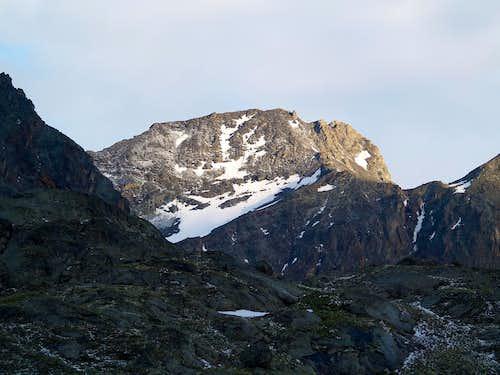 Il versante nord della Punta di Leppe